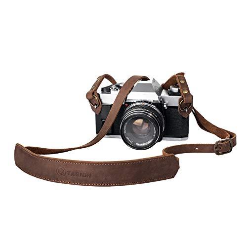 TARION Kamera Tragegurt Echtleder Kameragurt Trageriemen Schultergurt verstellbar (Braun, Länge: 145cm) für Leica Kamera oder DSLR Kompakt Kamera, Modell TNS-L1