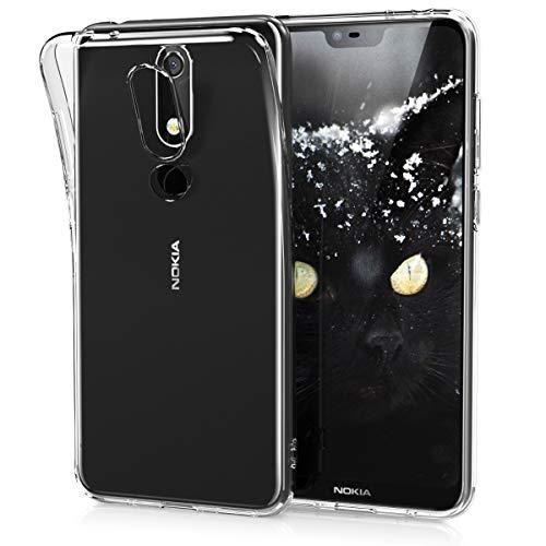 kwmobile Hülle kompatibel mit Nokia 5.1 Plus (2018) / X5 - Silikon Handyhülle transparent - Handy Hülle in Transparent