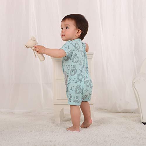 Minizone Mameluco del bebé muchachos del verano del mono de manga corta del mono recién nacido Otton Outfit