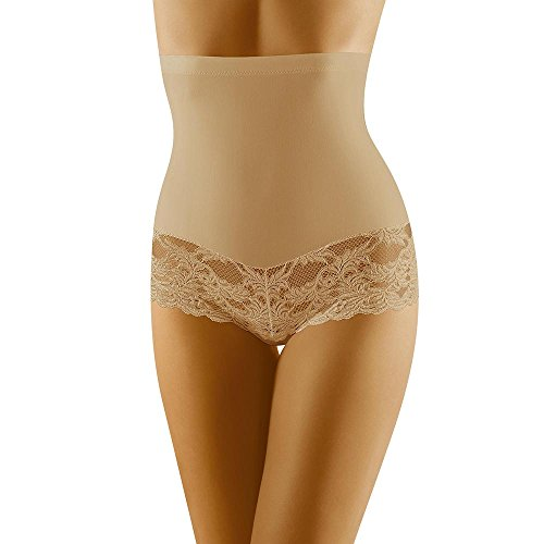 Wolbar Damen Hipster Slip WB183, Beige,Medium