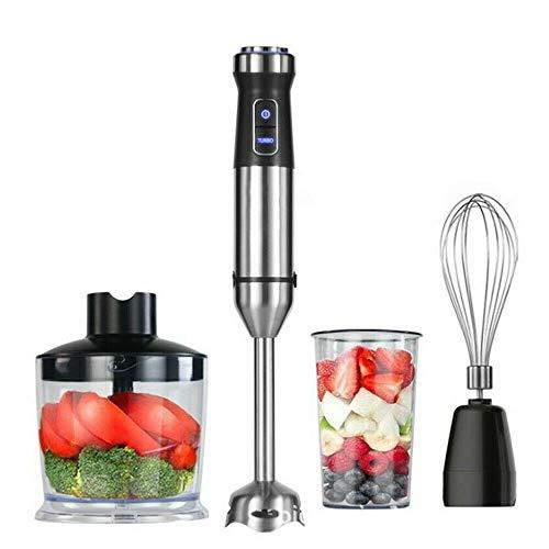 4-IN-1 Multifunktion Haus Edelstahl Stabmixer Handblender 1100W für Küche/Backen