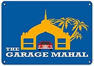 Anwei Signs Wall DecorThe Garage Mahal Parking Sign Tin Metal Sign 8 X 12 Inches Wall Art