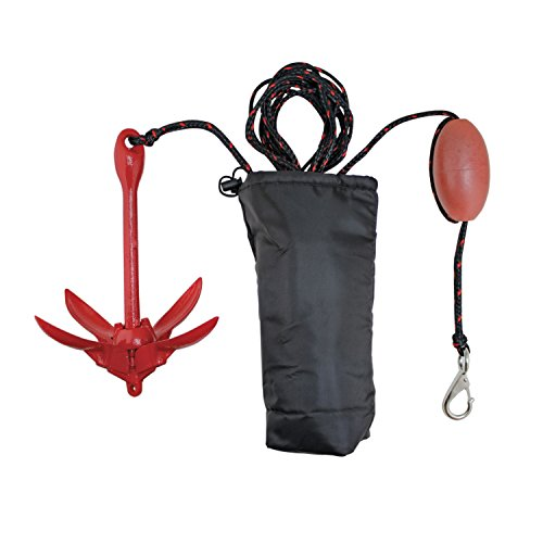 Extreme Max 3006.6548 BoatTector Complete Grapnel Anchor Kit for Small Boats, Kayaks, PWC, Jet Ski, Paddle Boards, etc. -3.5 lbs