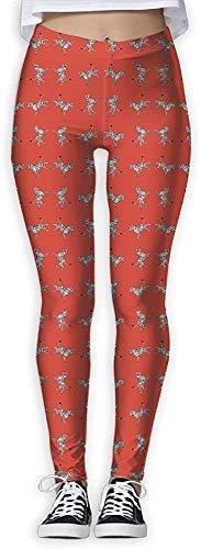 Monicago Leggings y medias deportivas para, Women's Zebra Red High Five Animal Scalamandre Print Sports Gym Yoga Leggings Pants