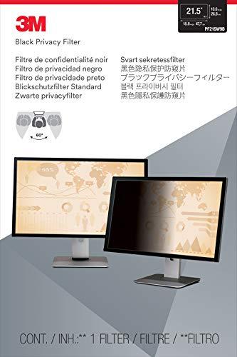 """Filtro de Privacidade 3M para Monitor Tela Widescreen 21.5"""" - Preto"""