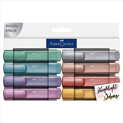 Pack 8 textliner 46 metálicos. Cs. Colores: 26, 50, 61, 91, 39, 47, 73 y 78. Presentación cs = creative studio