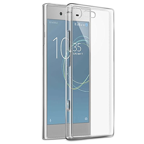 Eouine Sony Xperia XZ1 Compact Hülle, Ultra Slim Soft TPU Schutzhülle Silikon Stoßfest Handyhülle Tasche Bumper Case Cover für Sony Xperia XZ1 Compact 4.6-inch Smartphone (Transparent)