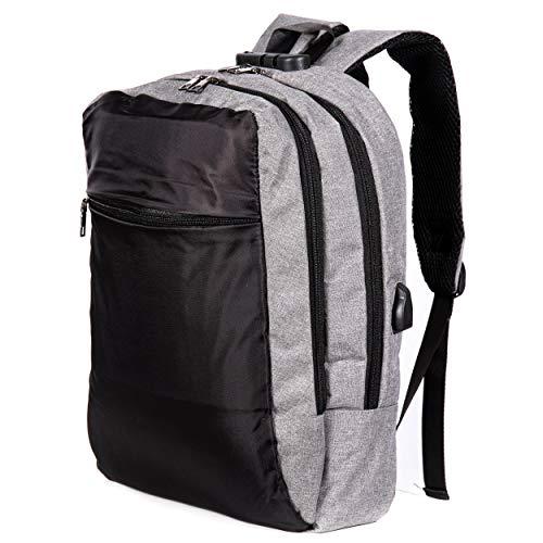Oramics Anti Diebstahl Laptop Rucksack mit USB Anschluss – Diebstahlsicherer Rucksack für Laptops bis zu 15,7 Zoll – Wasserfester Unisex Business Daypack (Rucksack 2 Fächer)
