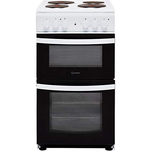 Indesit Cloe ID5E92KMW - Cocina eléctrica (50 cm, placa sólida), color blanco
