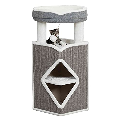 Trixie 44427 Cat Tower Arma, 98 cm, grau/blau/grau
