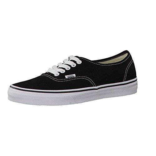 Vans Authentic, Zapatillas de Tela Unisex, Negro (Schwarz/Weiß), 36.5