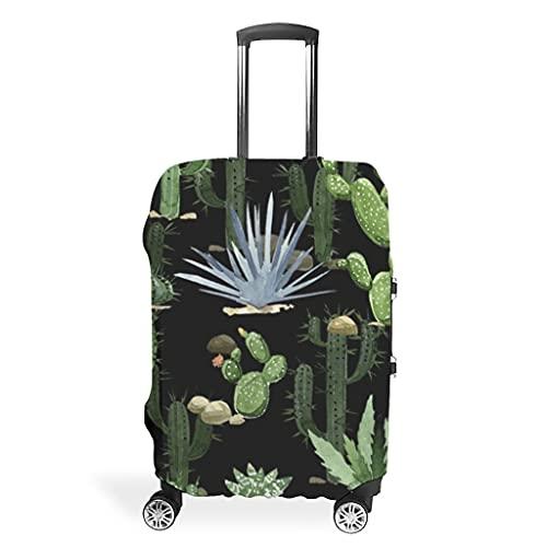 Funda protectora para maleta con diseño de plantas tropicales, de acuarela, con cactus