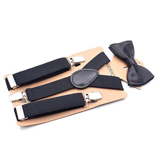 LLZGPZBD bretels vlinderdas pak voor kinderen 3 clips riemen 5-8 jaar oud voor kinderen