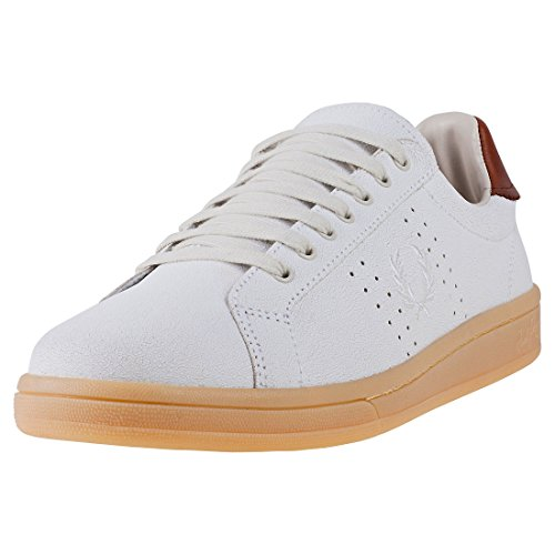 Fred Perry Cracked Leather Porcelain Chesnut B2070254, Scarpe Sportive - 41 EU