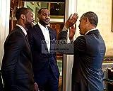 bucraft President Barack Obama with Dwyane Wade and...