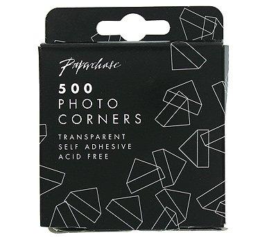 Transparent photo corners - pack of 500