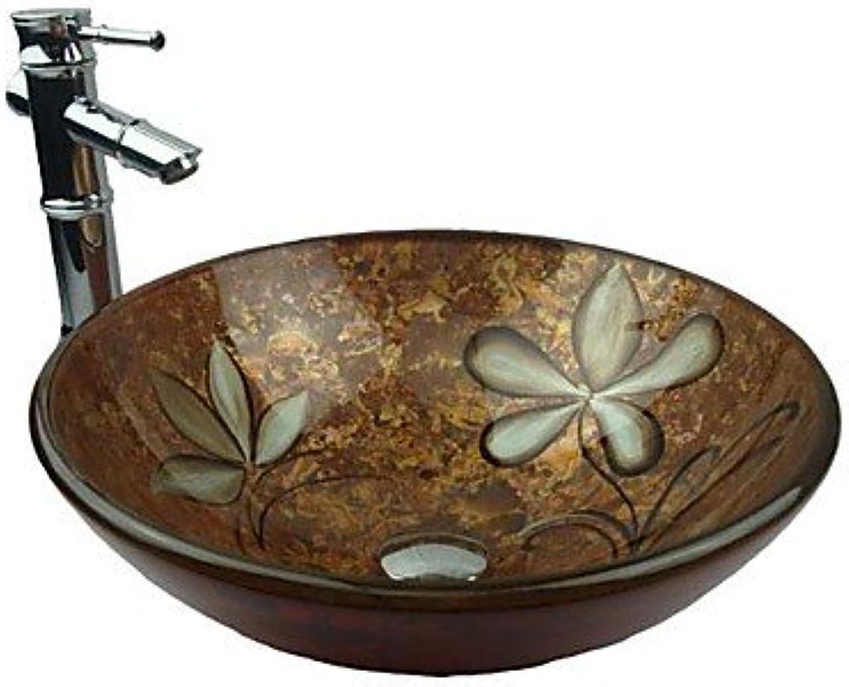 Bathroom Sink Set Bathroom Sink Contemporary Tempered Glass Tempered Glass