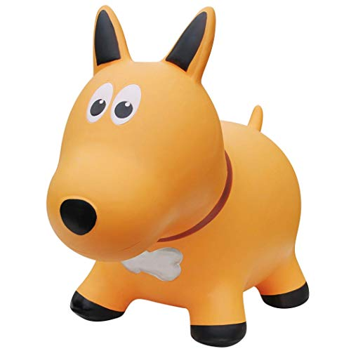 Farm Hoppers Award Winning Inflatable Toddler Safe Bouncing Yellow Dog