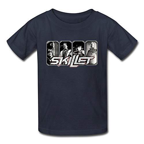 QIAOJIE Kazza Kid's Crazy Skillet Band Camiseta con Cuello Redondo