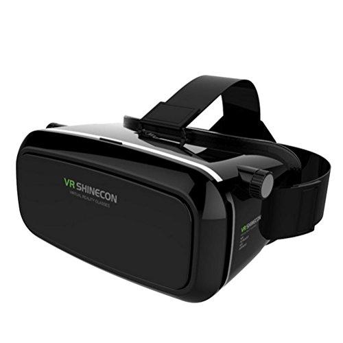 HUYAN Occhiali 3D VR VR 3D 360° Realtà Virtuale con Telecomando Gamepad Joystick, per iPhone e Android Smartphones da 4 a 6 Pollici Focus Regolabile