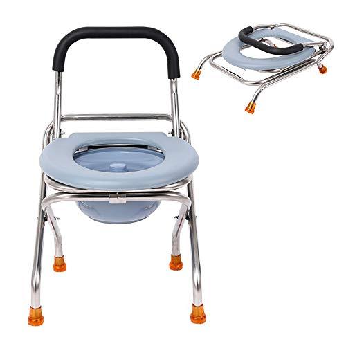 Chaise percée portative, Chaise Toilette médicale Pliable,...
