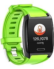 HalfSun HalfSun スマートウォッチ 1.30インチ HD画面 スマートブレスレット カラースクリーン 心拍計 血圧 歩数計 活動量計 消費カロリー 睡眠検測 目覚まし時計 座りがち通知 IP67防水 着信通知 SMS Twitter Facebook Line アプリ通知 日本語説明書 iphone&Android対応1.30インチ HD画面 スマートブレスレット カラースクリーン 心拍計 血圧 歩数計 活動量計 消費カロリー 睡眠検測 目覚まし時計 座りがち通知 IP67防水 着信通知 SMS Twitter Facebook Line アプリ通知 日本語説明書 iphone&Android対応