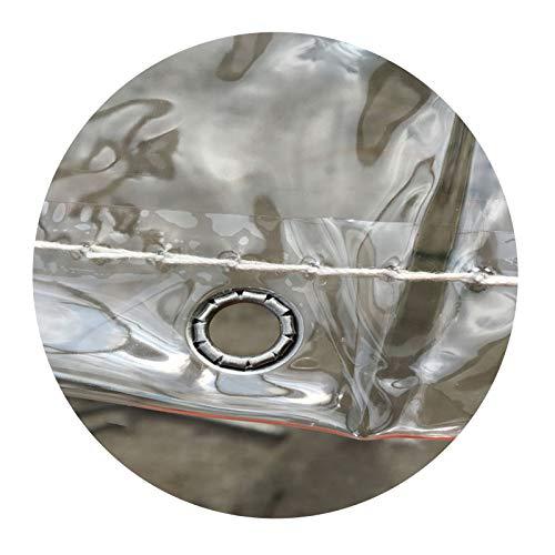 SHIJINHAO Lonas Impermeables Exterior Lona Transparente Impermeable, Ojal De Metal Jardín Al Aire Libre Protección Contra La Lluvia Plegable Resistencia Al Desgarro PVC Preservación Del Calor Plástico