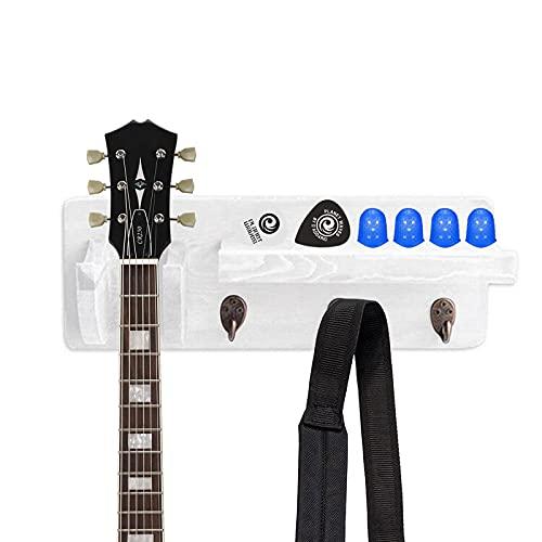Soporte de pared para guitarra, de madera, con soporte de exposición, 3...