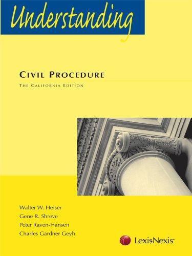 Best understanding civil procedure by gene r. shreve for 2021
