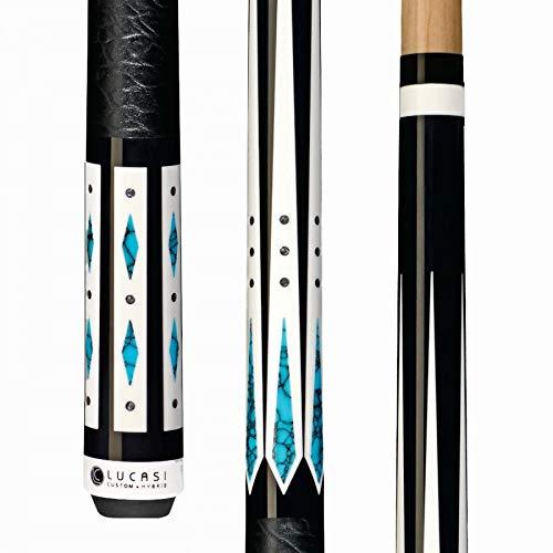 LUCASI Custom + Hybrid LHC98 Pool Cue Stick - Spliced Low Deflection Shaft, Kamui PRO Tip, Uni-Loc Joint + Soft Case
