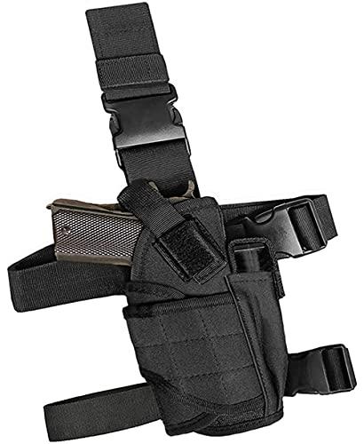 GHFY Tactical Drop Leg Holster, Thigh Pistol Gun Holster, Right Hand Adjustable (Black)