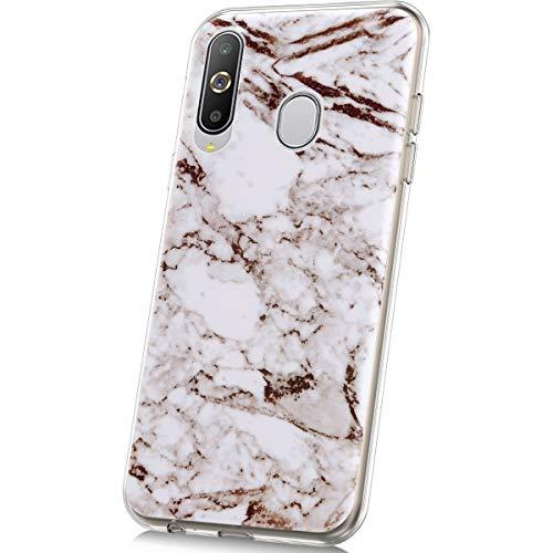JAWSEU Compatible avec Samsung Galaxy A8S Coque Marbre Silicone TPU Case Ultra Mince Souple TPU Téléphone Housse de Protection avec Motif de Marbre Flexible Souple Gel Antichoc Bumper Case,#5