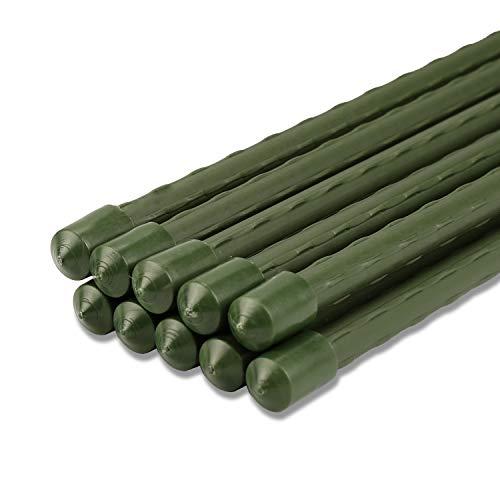 Sekey Pflanzenstäbe Gartenpflanze Unterstützung beim Wachsen von Pflanzen, Kunststoff beschichtetes Stahlrohr 8mm Durchmesser. 75 cm Lange Packung 10