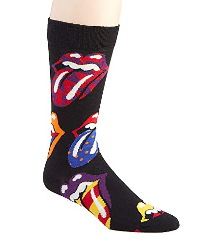 Happy Socks Rolling Stones Out Of Control Socks Black/Multi Men's Shoe Size 8-12