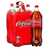 Coca-Cola Sabor Original - Refresco de cola - Pack 4 botellas 2L