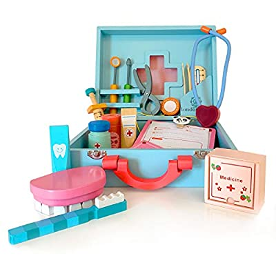 london-kate Wooden Medical Play Set - Doctor Play Kit