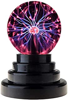 Magic Plasma Ball Touch Sensitive Plasma Ball USB Globe Plasma Ball Lamp Light Nebula Sphere Globe Novelty Toy - USB or Battery Powered Globe Desktop Kids Child Party Decorative Plasma Light