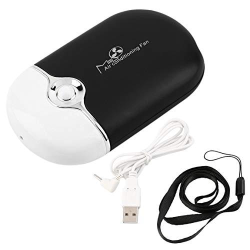 SeniorMar-UK Home Set Einfache Bedienung Bequem wiederaufladbar Tragbar Mini Handheld Klimaanlage Lüfter USB-Kühler Praktisches Geschenk