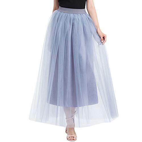 Makalon Dames lange rok van chiffon bruidsmeisjes en prinses plissé