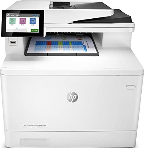 HP Color LaserJet Enterprise MFP M480f 3QA55A, Impresora Láser Multifunción, Color, Imprime, Escanea, Copia, y Fax, Ethernet, USB 2.0, HP Smart App, Pantalla Táctil en Color, Blanca