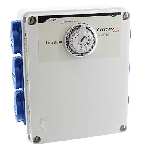 Programmateur d'éclairage 6 x 600W - Timer Box GSE