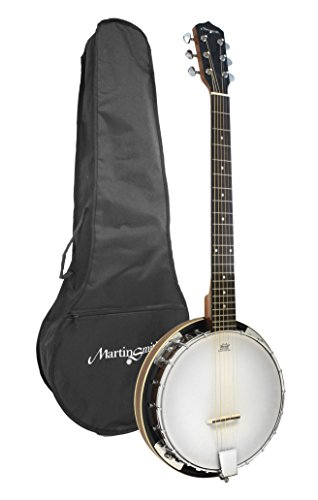 Martin Smith 6 String Guitar Banjo Including Padded Gig Bag (BJ-003)
