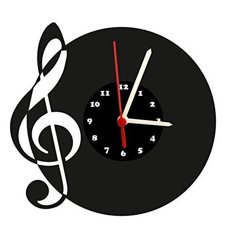 Wanduhr Note, Violinschlüssel, Design, hochwertige Acrylglas Uhr mit lautlosem Quarzwerk, 3mm Stärke Ziffernblatt
