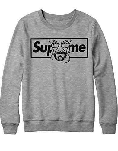 HYPSHRT Herren Sweatshirt Supreme Walter Parody C000385 Grau XL