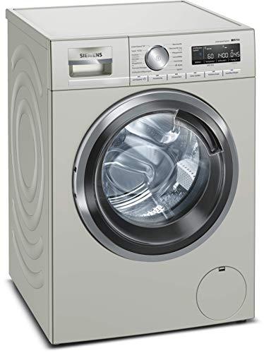 Siemens iQ700 WM14VMS1 - Lavadora de acero inoxidable, 9 kg, A+++ / 152 kWh / 1400 rpm/sistema antimanchas, SpeedPack XL para un lavado rápido/función de reposición
