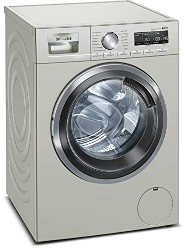 Siemens iQ700 WM14VMS1 Waschmaschine -inox / 9 kg / A+++ / 152 kWh / 1400 u/min / antiFlecken System / speedPack XL für schnelles Waschen / Nachlegefunktion