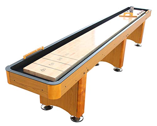 Playcraft Woodbridge 12' Honey Oak Shuffleboard Table