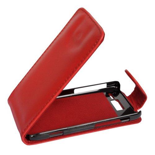 Mobilfunk Krause - Flip Hülle Etui Handytasche Tasche Hülle für Motorola RAZR i XT890 (Rot)