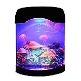 Romellar Luces de noche para tanque de acuario, medusas USB, luces LED de estado de ánimo con cambio de color, decoración de escritorio regalo para niños y adultos, buen aspecto y diversión