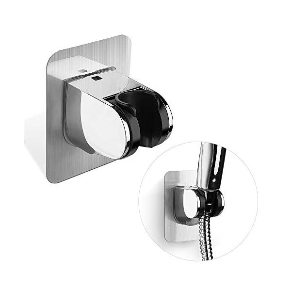 Rovtop Soporte de Ducha-Soporte de Cabezal de Ducha Extraíble y Ajustable, sin Necesidad de Perforar, Accesorios de Baño…